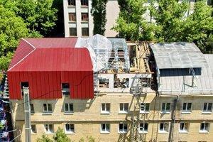 Реконструкция кровли здания