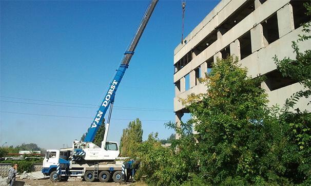 Демонтаж железобетонного здания