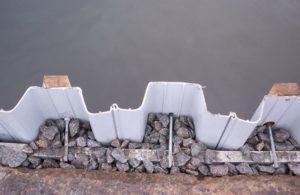 укрепление берегов шпунтом ПВХ