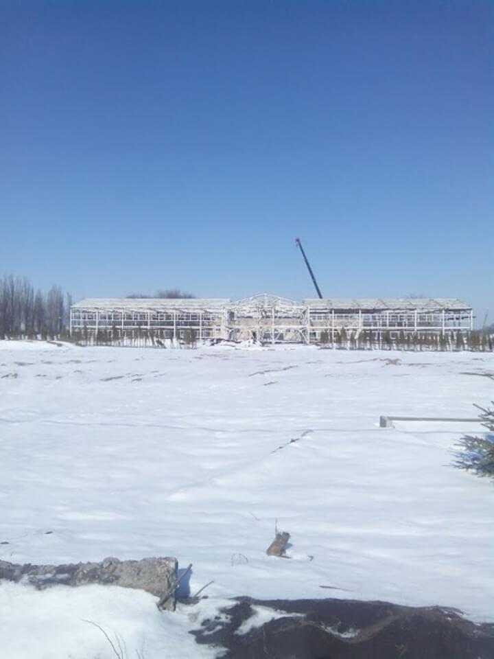 Устройство металлокаркаса двух казарм (Дачное, Одесская область)