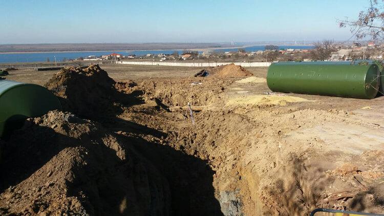 Прокладка дренажа (с. Константиновка, Николаевская область)