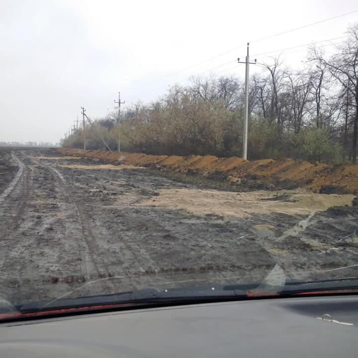 Прокладка канализации (Дачное - Усатово, Одесская область)