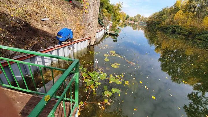 Берегоукрепление шпунтом ПВХ в г. Полтава